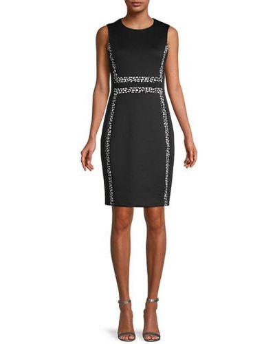Приталенное черное платье-футляр без рукавов Calvin Klein