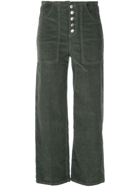 Зеленые укороченные брюки Veronica Beard
