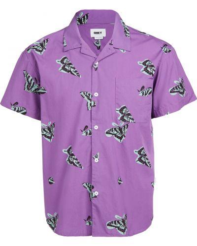 Рубашка с короткими рукавами с бабочкой с воротником Obey