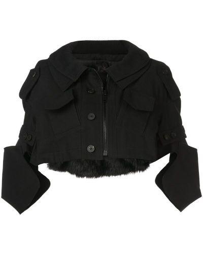 Пиджак черный милитари Vera Wang