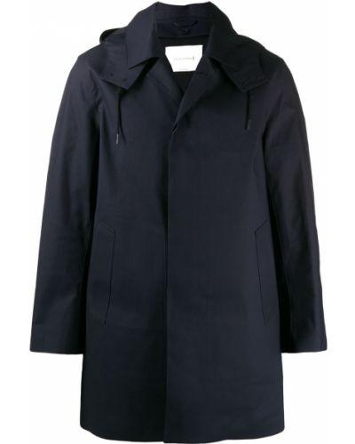 Темно-синий макинтош с капюшоном Mackintosh