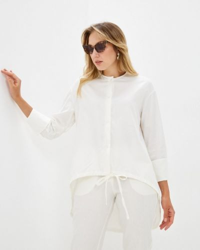 Белая блузка энсо