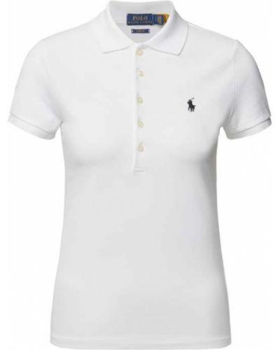 Biała koszulka bawełniana Polo Ralph Lauren