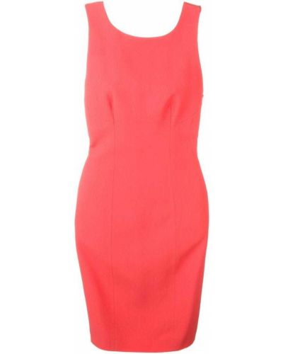 Платье без рукавов розовое Capucci