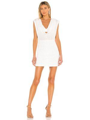 Белое платье мини с декольте с подкладкой Nookie