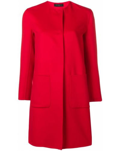 Длинное пальто с капюшоном с воротником на пуговицах Antonelli