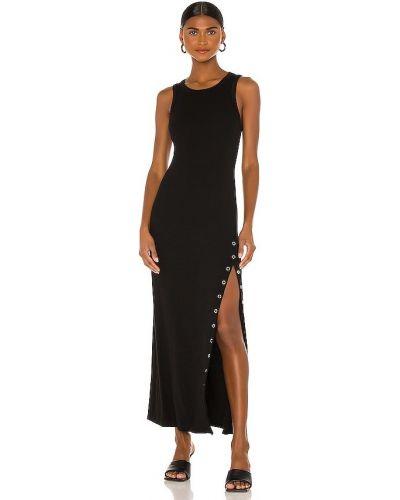 Хлопковое платье макси - черное La Made