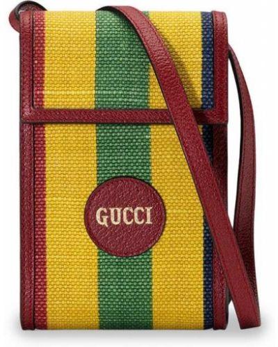 Кожаная сумка - красная Gucci