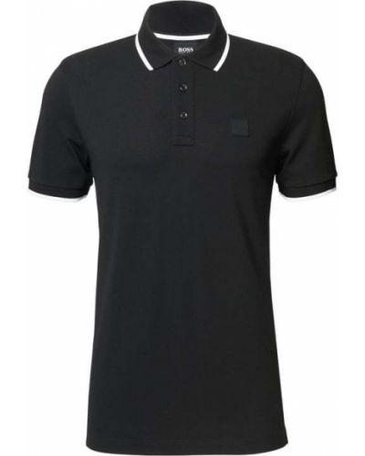 T-shirt z paskiem - czarna Boss