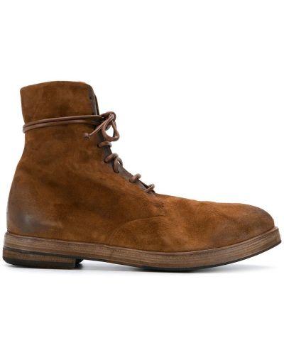 Ботильоны коричневый кожаный Marsèll