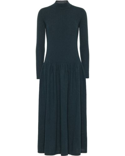 Платье миди классическое - синее Agnona
