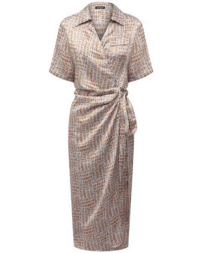 Шелковое бежевое платье Kiton