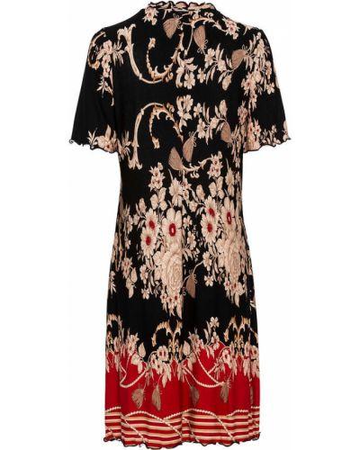 Трикотажное платье - черное Bonprix
