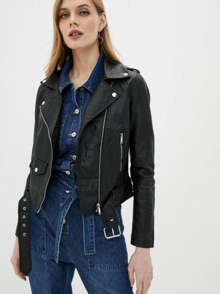 Кожаная куртка черная осенняя Softy
