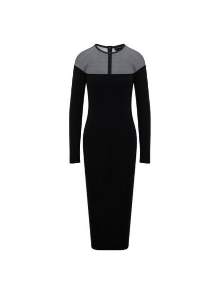 Шелковое облегающее платье прозрачное с длинными рукавами свободного кроя Tom Ford