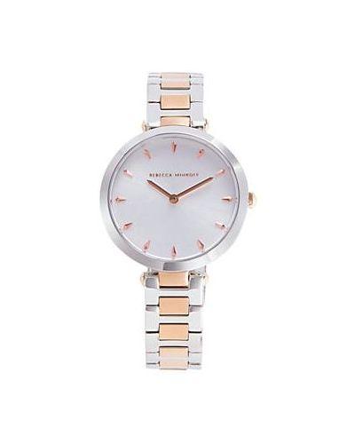 Zegarek kwarcowy elegancki srebrny kwarc Rebecca Minkoff