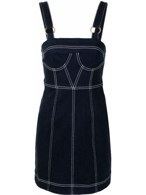 Прямое синее платье мини с вырезом Alice Mccall