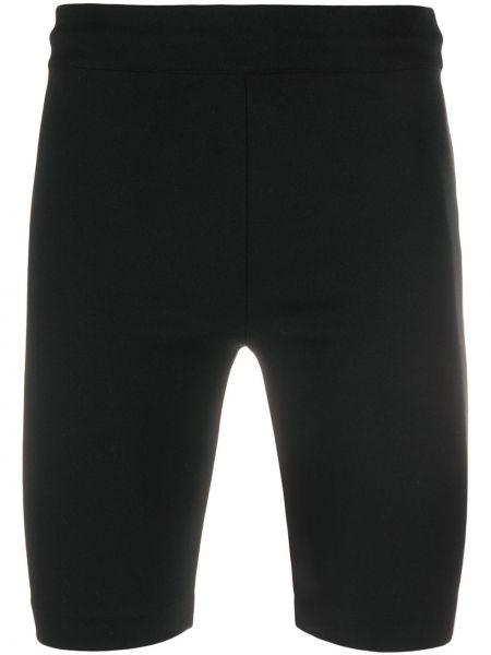 Тренировочные нейлоновые черные короткие шорты на резинке Acne Studios