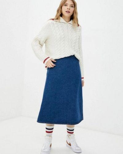 Синяя юбка миди United Colors Of Benetton