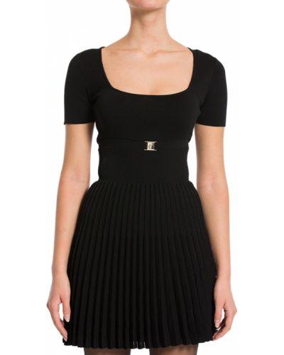 Платье из вискозы - черное Versace Collection