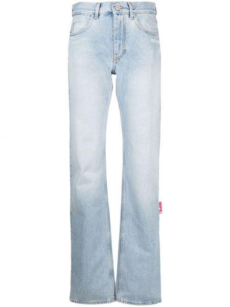 Niebieski spodni z wysokim stanem klasyczne spodnie Off-white