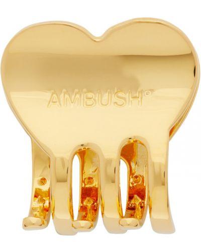 Spinka do włosów metal złoto Ambush