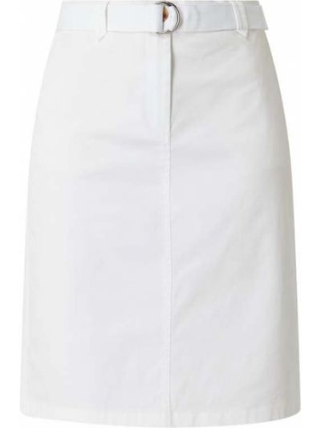 Biała spódnica ołówkowa bawełniana Christian Berg Women
