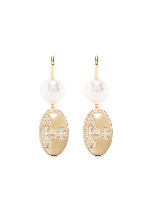 Белые серьги с жемчугом Vivienne Westwood