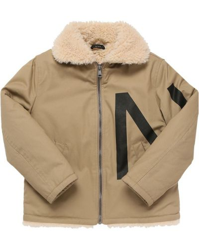 Куртка с капюшоном - бежевая N21