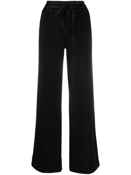 Кашемировые черные свободные брюки свободного кроя с высокой посадкой Andrea Ya'aqov