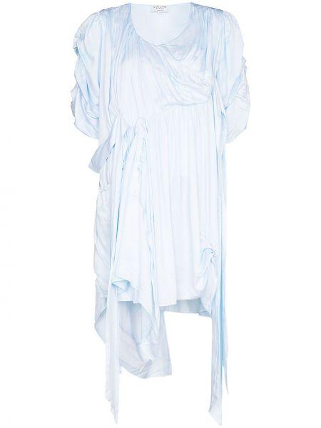 Sukienka asymetryczna - niebieska Collina Strada