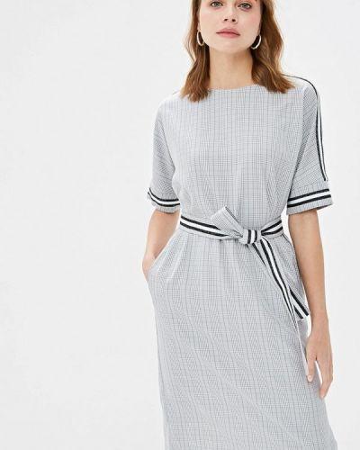 Прямое серое платье Mari Vera