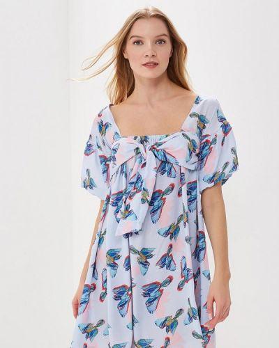 Голубое платье весеннее Lost Ink.