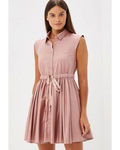 Розовое платье осеннее Lusio
