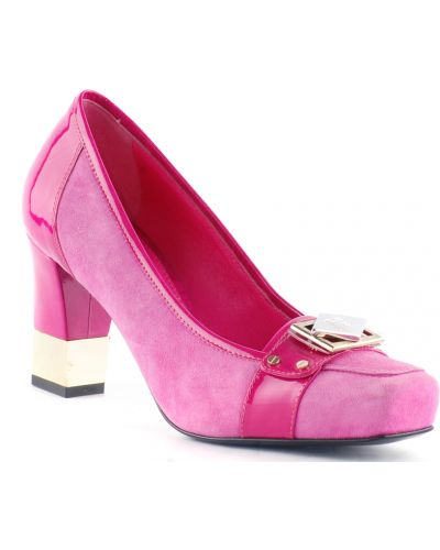 Туфли на каблуке замшевые кожаные Marino Fabiani