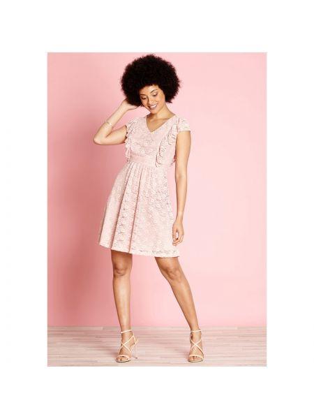Платье мини миди с V-образным вырезом Yumi