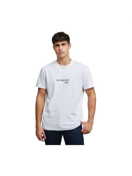Biała t-shirt Fay