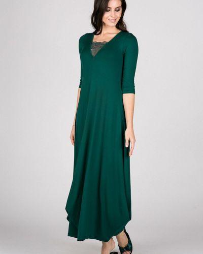 Платье осеннее зеленый Petit Pas
