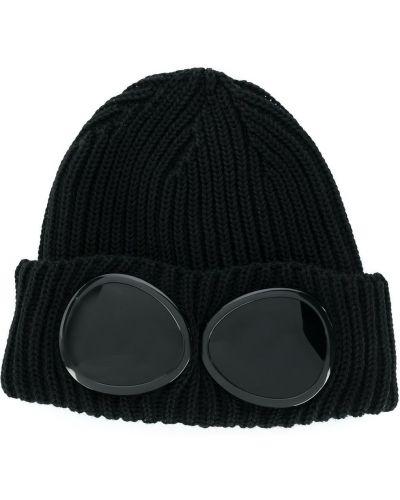 Шерстяная черная шапка бини C.p. Company