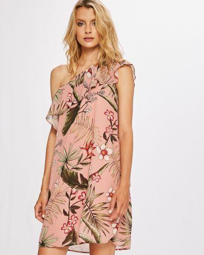 Платье мини прямое с оборками Only