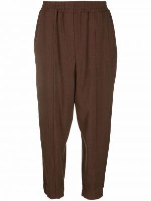 Шерстяные брюки - коричневые Odeeh