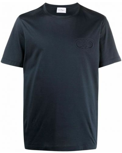 Niebieska t-shirt Salvatore Ferragamo