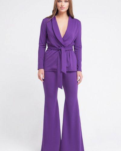 Брючный костюм фиолетовый Malaeva