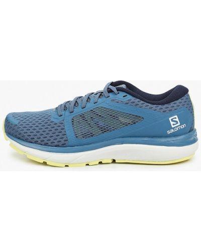 Текстильные синие кроссовки Salomon