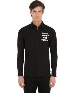 Klasyczna czarna klasyczna koszula bawełniana Make Money Not Friends