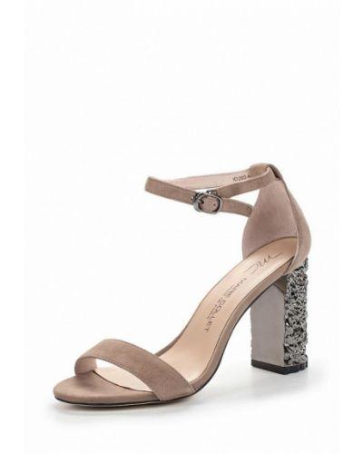 Босоножки на каблуке замшевые Marie Collet
