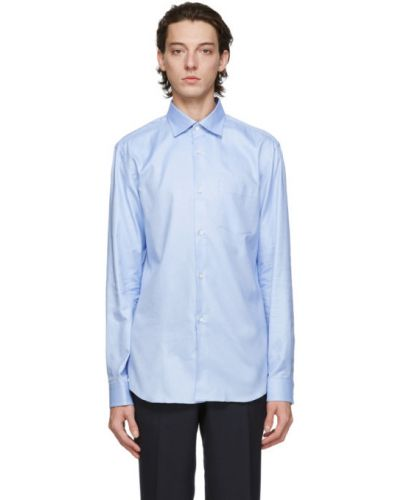 Niebieska koszula oxford bawełniana z długimi rękawami Comme Des Garcons Homme Deux