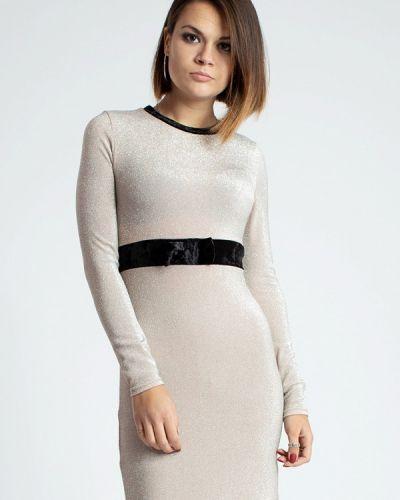 Вечернее платье осеннее бежевое Modna Anka