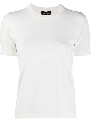 Прямая футболка с вырезом с короткими рукавами Roberto Collina