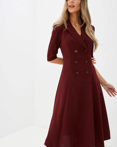 Платье бордовый с запахом Imago